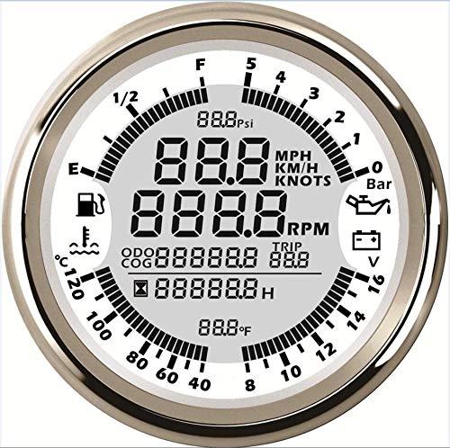 CAIZHIXIANG Medidor GPS Velocímetro Tacómetro de Combustible 8 Clases de retroiluminación LED en Color afinación del Instrumento for Auto (Color : Blanco, Size : Gratis)