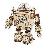 Robotime boîte à Musique Casse Maquette en Bois a Construire - tête 3D en Bois découpé au Laser - Orpheus Robot Bricolage - Creative Valentin / Anniversaire Cadeaux de Noël