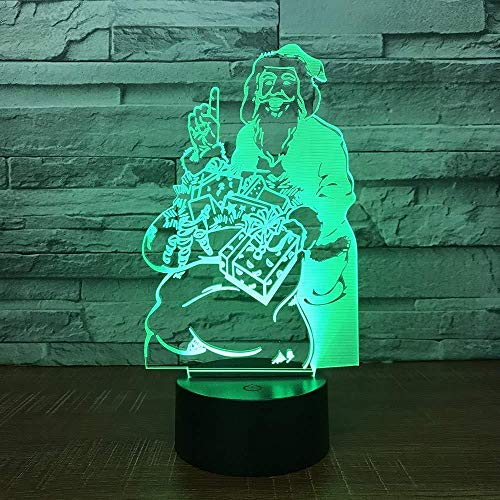 3D Lámpara de LED Luz de Noche Light up mejor regalo de para niños y niñas Con carga USB, control táctil de cambio de color colorido