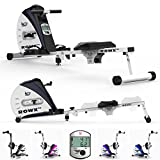 We R Sports Premium Rowing Machine Elastic Cord Resistance Body Tonner Home Rower Fitness Cardio Workout Weight Loss (Black)