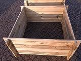 BIHL - Stabiler Holzkomposter Komposter Kompostbehälter Hochbeet 120 x 120 x 53 cm 19 mm