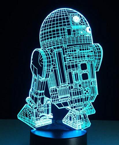 Star Wars Darth Vader 3D Led Lampe De Table Veilleuse 7 Enfants Colorés Éclairage Cadeau Bébé Veilleuse Led Nouveauté Lightsusb Rechargeable Femme Époux Fils Fille Père Papa Maman Petit Cadeau Décor P