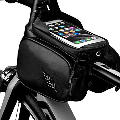 DelongKe Fahrrad-Lenker-Tasche wasserdichte Universal-Tasche Halterung Fahhradlenkertasche Für Smartphones Wie iPhone Etc.