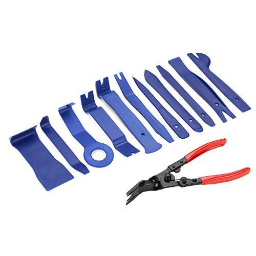 TuToy 12 Stks Radio Deur Clip Molding Trim Plier Dash Panel Audio Removal Tools Kit