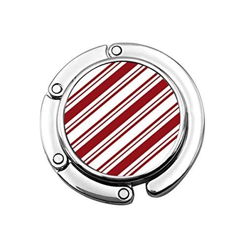 Percha Monedero Plegable Lindo Gancho Monedero Caramelo Transparente Rojo Blanco Rayas Diagonales Bastón