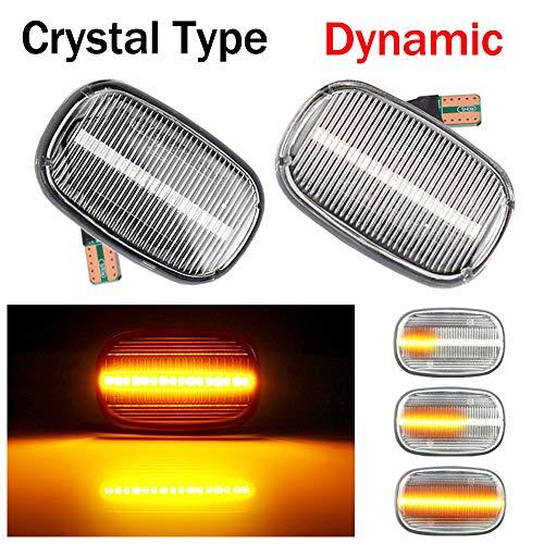 Dynamische Sequentielle LED Seitenblinker Blinker Laufeffekt T-oyota Corolla RAV4 Prius Yaris Camry Vios Hilux Allex Avensis Celica Supra Mk4 (Weiß)