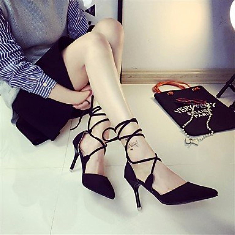 LvYuan-GGX Damen High Heels Komfort Komfort Komfort PU Sommer Normal Komfort Schwarz Rot 5-7 cm, Ruby, us6   eu36   uk4   cn36  9fc6dc