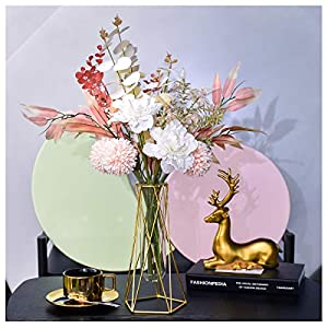 Artificial Flowers Fake Silk Flower Bouquet , Real Touch Indoor Outdoor UV Resistant for DIY Home Wedding Party Decoration (Spring)