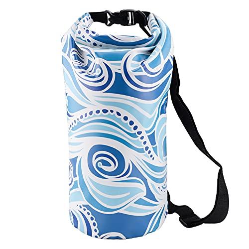 GLAITC Sac Étanche, Dry Bag Sacs 10L Secs Flottants Imperméables Sac de Plage Flottant pour Sac à Dos Sac Étanche Ultra Sec pour Natation Canotage Pêche Kayak Randonnée Camping Surf (Blue)