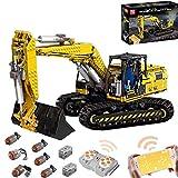 2.4G RC Crawler Excavadora Set de construcción con 6 motores, Technic Excavadora, 1830 bloques compatibles con Lego Technic