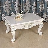 DHTOMC Muebles de Madera Mesa Mini Mirador Tabla Tatami Mesa de Café Té Sofá Side Family Table Fácil de Montar (Color : Tracing Gold, Size : 70x45x35cm)
