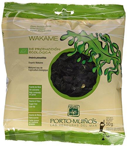Porto Muiños - Alga Wakame Deshidratado Bio - Producción Ecológica - 50 Gramos