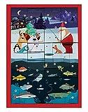 Fishing Gifts Angelweihnachtskalender, Adventskalender mit hochwertigem Anglerzubehör,...