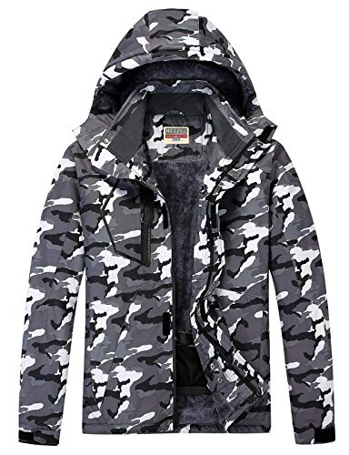 Men's Hooded Tactical Jacket - Water Resistant Soft Shell Repellent Windproof Fall Winter Coat for Men