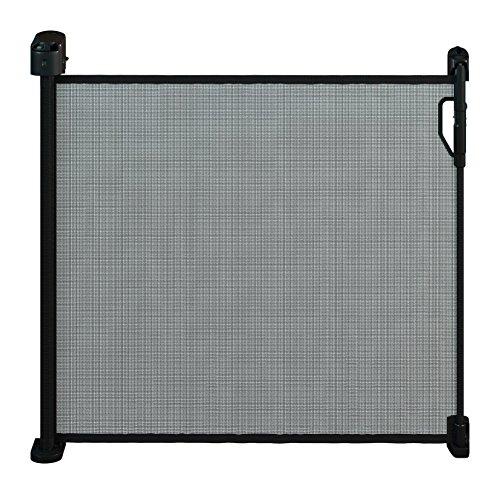 Gaterol Active Pro Schwarz – Schickes ausziehbares Treppenschutzgitter und Türschutzgitter Rollo mit Quick Pass und Verschlussautomatik bis 120cm