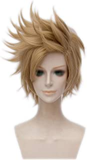 Wgior Synthetic Anime Spiky Layered Hair Comic Con Cosplay Costume Party Dress Up Short Wigs