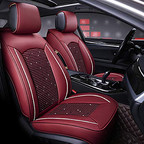 JINRYIGK Universal car seat cover for Nissan X-TRAIL QASHQAI LIVINA GENISS SYLPHY TEANA TIIDA TIIDA GTR Bluebird auto accessories styling,red no pillow