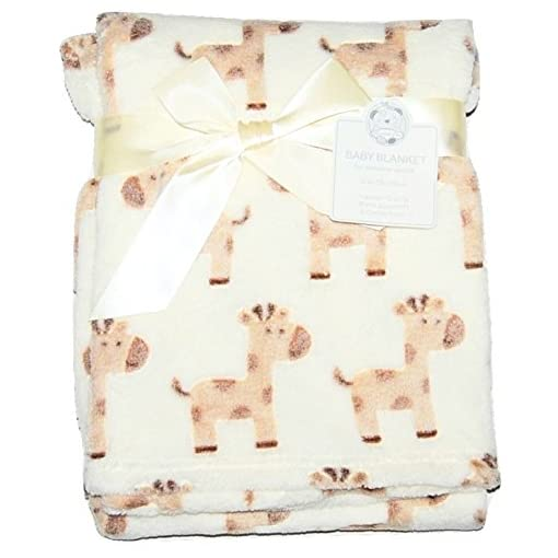 Baby-Boy-Girl-Unisiex-Soft-Fleece-Wrap-Blanket-Pram-Cot-Crib-Moses-Basket-Giraffe