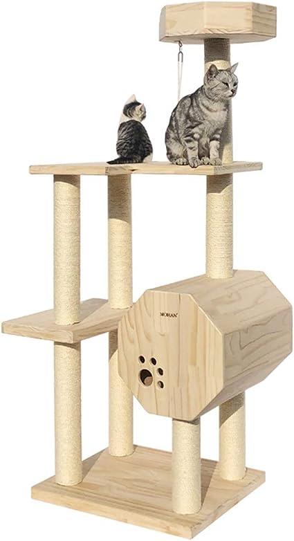 Árboles para Gatos Árbol del Gato Cilindro De Madera Casa del ...
