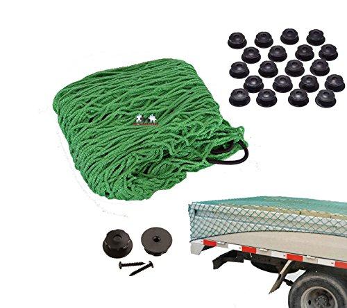 Preisvergleich Produktbild all-around24 Anhängernetz mit Befestigung Rundknöpfen 20 St.inkl Schrauben KFZ Auto Netz (300 x 200cm Grün)