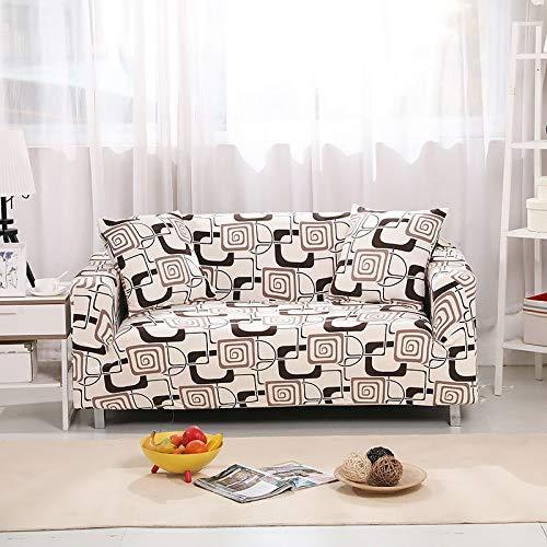 WXQY Funda de sofá de celosía Funda de sofá de sombreado elástico Funda de sofá de Sala de Estar sofá de Esquina Toalla Funda de sofá Funda de cojín Protectora A20 1 Plaza