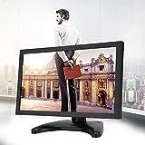 Monitor de PC de 11,6 Pulgadas Relación de Pantalla 16: 9 Computadoras Monitor de Juegos portátil Resolución de 1920 x 1080 Potencia Nominal de 10 W para CCTV, videocámaras(Enchufe DE LA UE)