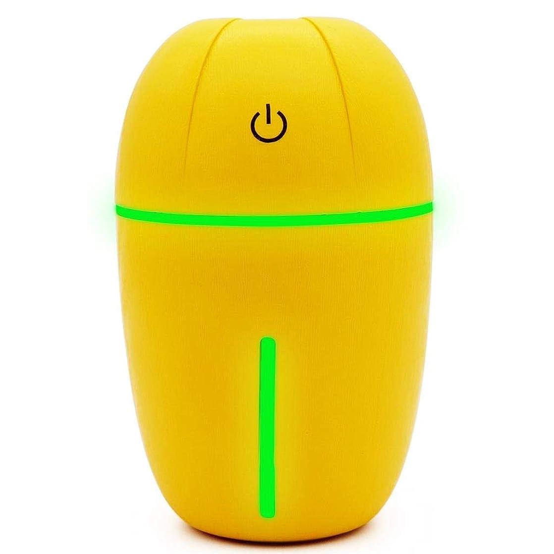 手荷物薄汚いビート騒音30dB 以下 芳香 拡張器 清涼 薄霧 加湿器 ミスト アロマ フレグランス 癒し リラックス 調光 LED 寝室 (Color : Yellow)