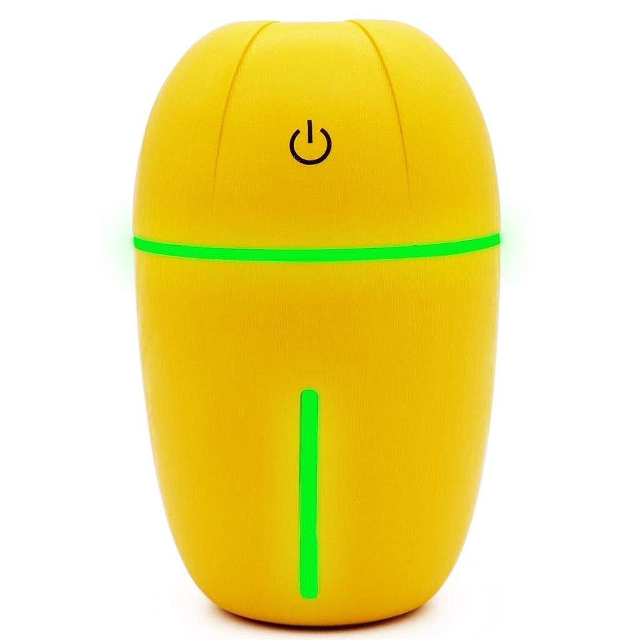 りパッケージ熱意騒音30dB 以下 芳香 拡張器 清涼 薄霧 加湿器 ミスト アロマ フレグランス 癒し リラックス 調光 LED 寝室 (Color : Yellow)