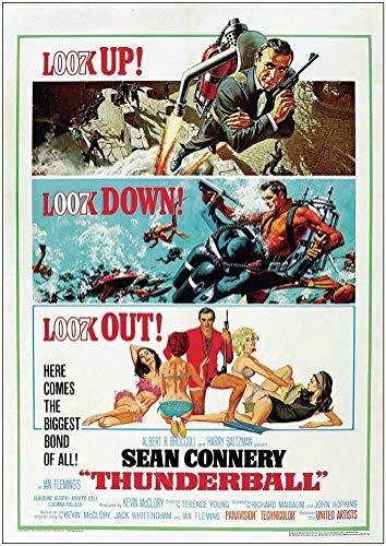 """Poster cinematografico classico vintage con scritta """"Tomorrow Never Dies James Bond"""" 007 di Pierce BROSNAN vintage classico James Bond 007 SEAN CONNERY Classic Poster (A2 – 594 x 420 mm)"""