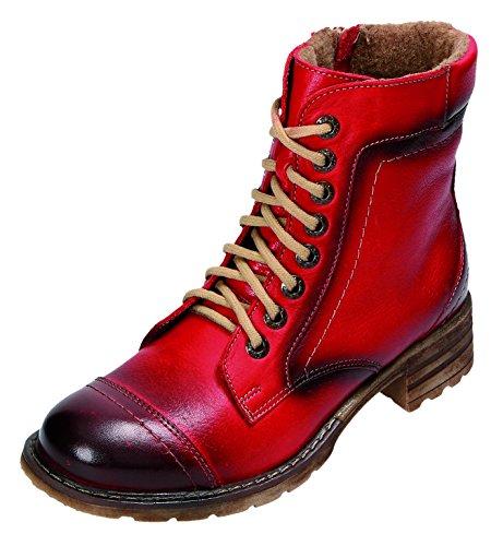 MICCOS Shoes Stiefel D.RV-Stiefel in schwarz/rot, Größe 37.0,