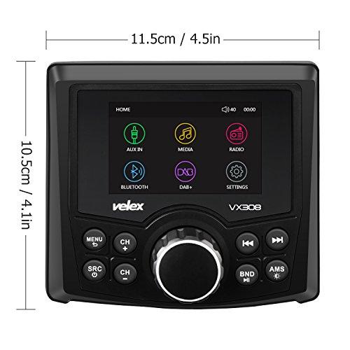 stereo marino, lettore audio video DAB + / FM / AM con Bluetooth Streaming, per yacht, barca, utv, ATV, Power sport, spa