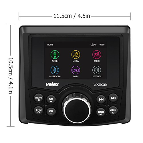 In-Dash Marin Boss Audio MCKGB450B.6 Marine Package Audio Streaming Bluetooth