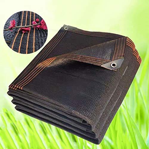 YFZN Mejora 18 Pines Red de Sombreado Engrosada Encriptada Vela de Sombra Negra Paño de Sombra Transpirable 95% Corrosión Anti Envejecimiento Plantas Flores Invernadero Patio Césped Malla Sombreadora