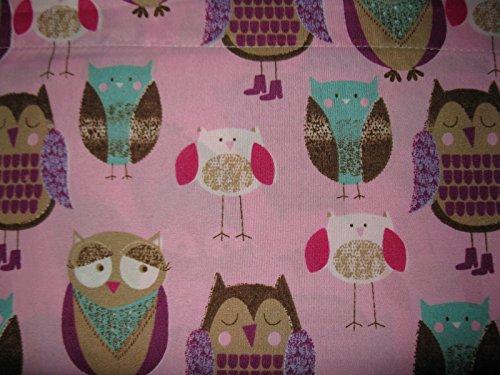Lily's Room Juego de sábanas de 3 piezas, diseño de búho rosa
