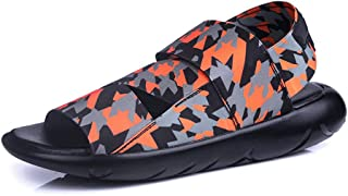 Summer New Men's Slippers Sandals Y3 with The Same Star Tide Shoes Personality Men's sandals-camouflage-39
