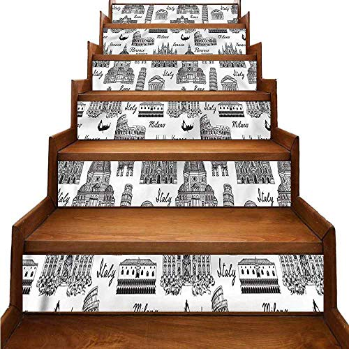 JiuYIBB City - Adhesivos decorativos para escaleras de Manhattan Central Park
