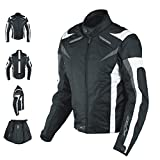 Ladies Textile Jacket sport Racing CE Armour Thermal Vents Motorcycle White L