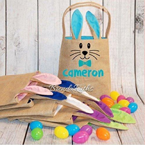 Fashion Personalized Burlap Easter Sale SALE% OFF Bunny Basket