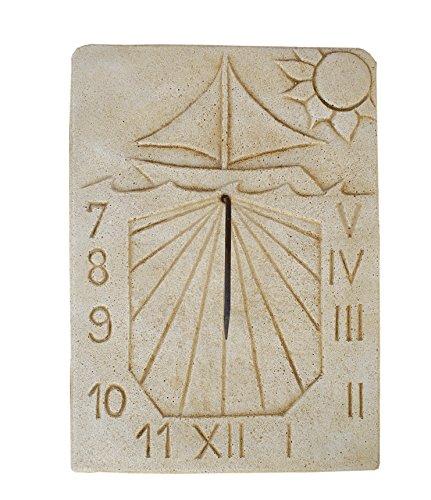 Cadran solaire en pierre mural extérieur Tempus fugit 35 x 48 cm.
