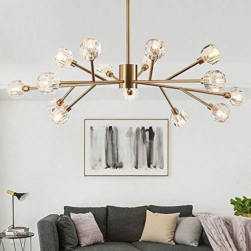 Sala de araña de la Vida Creativa Completa Cobre lámpara de la lámpara Modelo escandinavo Sala de la lámpara de luz 15 100 * 45cm Candelabros YFJFJ Tienda