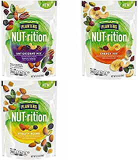 PLANTERS NUT-RITION VARIETY MIX, 5.5 Ounce (PACK OF 3 BAGS)