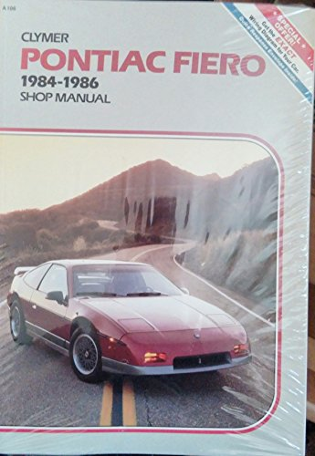 Pontiac Fiero, 1984-1986: Shop Manual