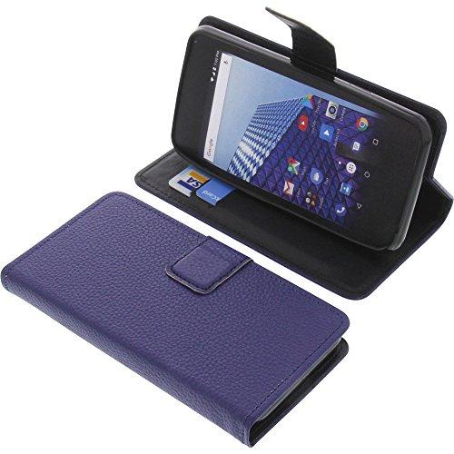 foto-kontor Tasche für Archos Access 45 4G Book Style blau Schutz Hülle Buch