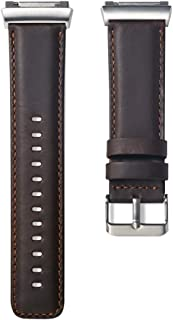 HEMOBLLO Watch Band Vintage Leather Watch Strap for Fitbit Ionic Watch(Coffee)