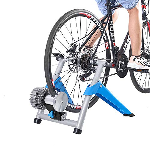 Teraysun Folding Indoor Bike Exercise Trainer Converter Bicycle Training Stand Home Workout Exerciser Steel