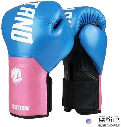QJSTTB Gants De Boxe 10 Oz Kick Gants De Boxe pour Hommes Femmes PU Karaté Muay Thai Guantes Lutte MMA Sanda Formation Adultes équipeHommest