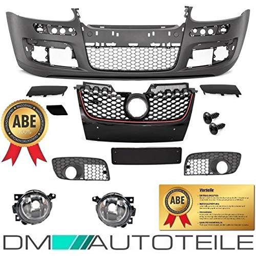 DM Autoteile Golf 5 V Stoßstange Vorne + Wabengitter KOMPLETT+ Nebelscheinwerfer GTI+ ABE