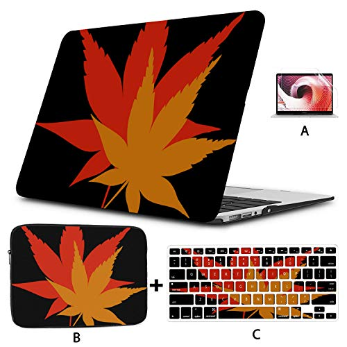 MacBook 13 Inch Case Leaves Fall Season Yellow Orange Red Tree Maple A1706 MacBook Pro Case Hard Shell Mac Air 11'/13' Pro 13'/15'/16' with Notebook Sleeve Bag for MacBook 2008-2020 Version