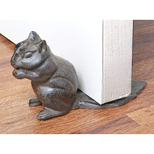 Cast Iron Chipmunk Floor Stop