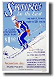 Skiing in the East - Vintage NEW Reproduction Art Print POSTER